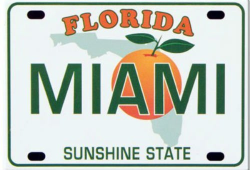 Miami-Florida-Kennzeichen Collector'Souvenir s Fridge Magnet 6.35 cm X 8.89 cm
