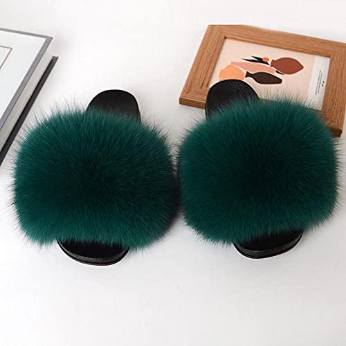 Kirin-1 Chanclas más cómodas para mujer, zapatillas de verano para mujer, sandalias planas de mediana edad de cuero, parte inferior suave, antideslizante, cómodas, 40_gris