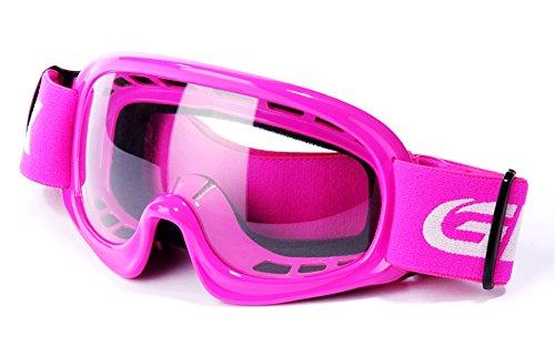 GLX YH15 Anti-Fog Impact-Resistant Kids Youth ATV Off-Road Dirt Bike Motocross Goggles for Boys & Girls (Pink)