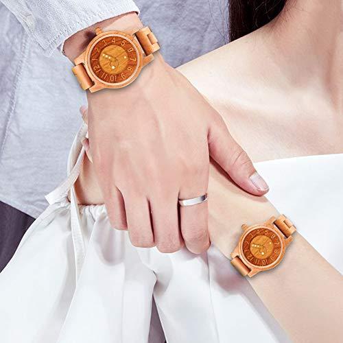 木製腕時計レディース,shifenmeiS5557軽量天然木レディース腕時計木製時計レディース美しいの包装誕生日にお贈り物女性用(レディース,03)