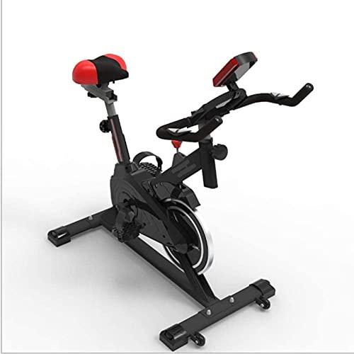 Qjkmgd Bicicleta de Ejercicio Interior, Bicicleta de Ejercicio controlada magnéticamente Mute Ajustable Ajustable Pantalla LCD Freno de Empuje Adecuado para Ejercicio Interior