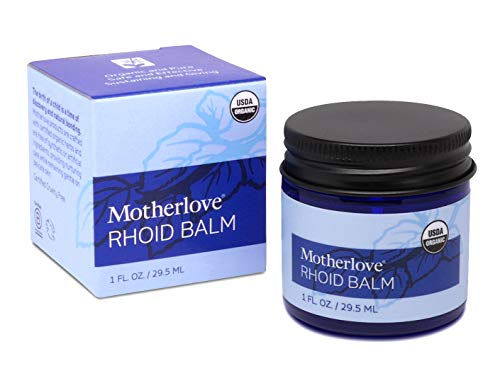 Motherlove Rhoid Balm (1 oz.) Organic Balm with Witch Hazel - Helps Ease Pain and Discomfort of Hemorrhoids Caused by Pregnancy and Childbirth