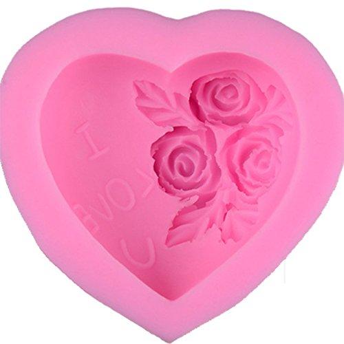 Drawihi 1 pcs Moule Rose Moule à Cake de Modélisation Silicone Facile Sur les Ustensiles de Cuisine