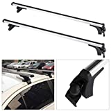 cciyu Universal Adjustable Aluminum 50†Roof Rack Cross Bar Car Top Luggage Carrier Rails Fit for 2012-2018 Toyota Camry,1990-2018 Toyota Corolla,2001-2018 Toyota Prius