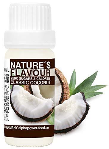 ALPHAPOWER FOOD Aromas alimentarios por repostería y bebidas I 10ml Vegano, Coco...