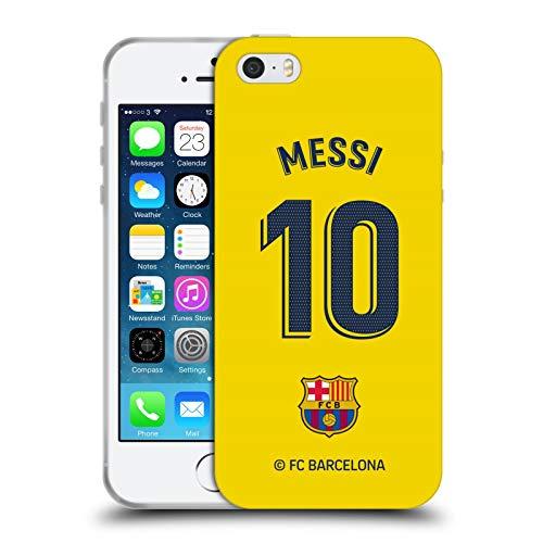 Head Case Designs Oficial FC Barcelona Lionel Messi 2019/20 Jugadores Away Kit Grupo 1 Carcasa de Gel de Silicona Compatible con Apple iPhone 5 / iPhone 5s / iPhone SE 2016
