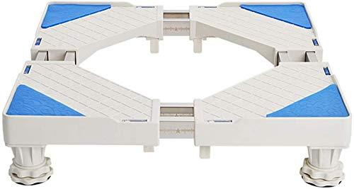 SHKUU Soporte Base para Lavadora, Soporte Base móvil Multifuncional Pedestal para Lavadora Ajustable con Soporte Carga pie Fijo para Secadora y refrigerador