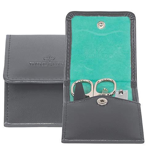 Windrose Merino Taschenmanicure mit Bestückungen Zwilling/Solingen 11 cm anthrazit