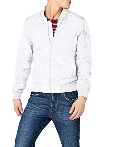 Urban Classics TB1258 Light Bomber Bomberjacke, Weiß (white 220), Gr. Medium