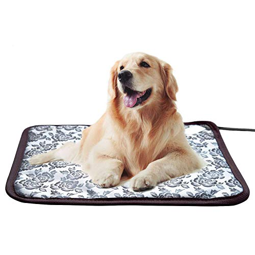 Whitney Pet Heating Pad Cat Heating Mat Waterproof Pets Heated Bed Adjustable Dog Bed Warmer Electric Heating Mat