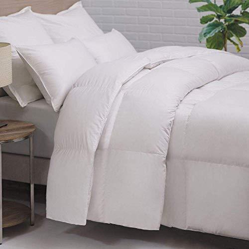 HOMFY Bettdecke 200x200cm, Steppdecke mit Füllgewicht Ca.1300g und 100% Baumwolle Bezug, Kassettendecken mit 4 Ecken Band Design, Atmungsaktive und Hautsympathische