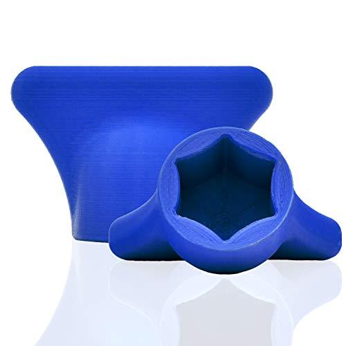 mix-slider - Thermomix Teigblume, Teiglöser Zubehör für Vorwerk Küchenmaschine TM5 + TM6 3D Gedruckt Made in Germany (Blau)
