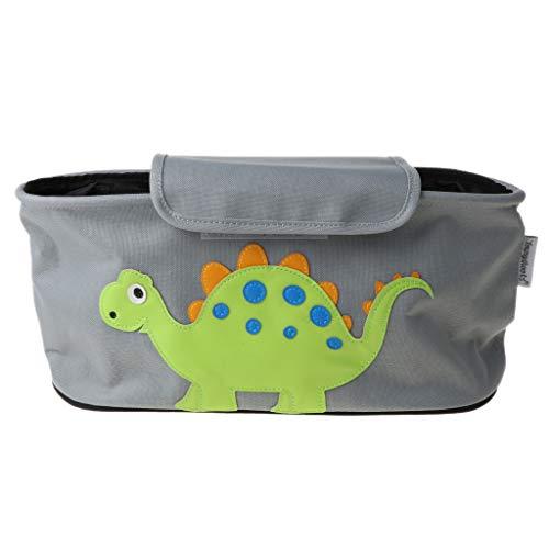 Gergxi Organizador de cochecito de bebé,Bolsa para bebé,Silla de paseo de carro,Portavasos de botella de viaje,Dinosaurio