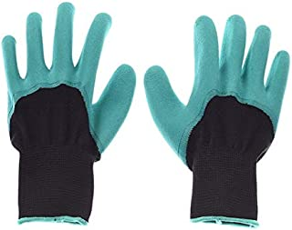Household Gloves - Garden Gloves with 4 Claws Garden Genie Rubber Gloves Quick Easy to Dig and Plant For Digging Planting ...