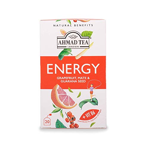 Ahmad Tea Natural Benefits Energy Kräutertee 20 Teebeutel mit Band/Tagged, 30 g