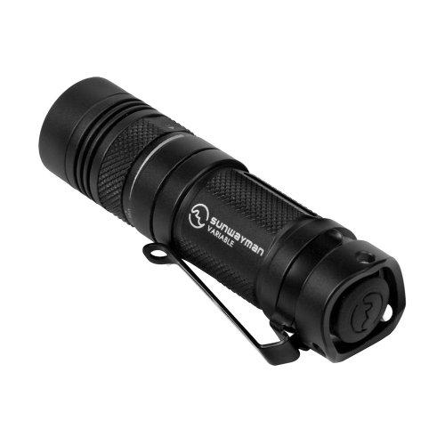 Sunwayman V11r CREE XM-L U2Entièrement variable LED Lampe de poche, Noir