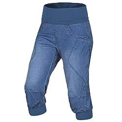 Ocun Noya Jeans W Klettershorts Middle Blue-S
