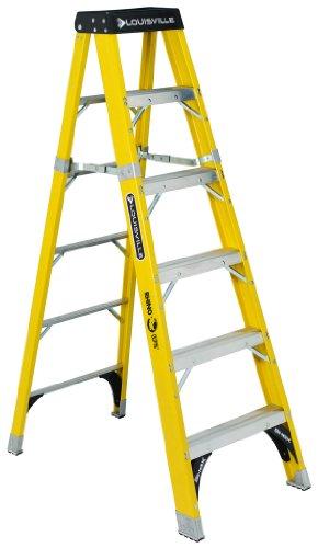 Louisville Ladder FS1112HD Fiberglass Step Ladder, 12 Feet, 375 Pound Duty Rating