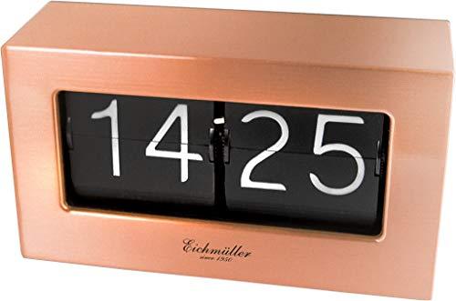 Retro Flip Uhr - Tischuhr mit solidem Metallgehäuse - Kupfer