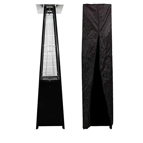 BENEFFITO Kohala - Estufa piramidal de Acero Negro - Calefacción Exterior de Gas - Superficie calefactora 30m² - Cubierta Negra - Fácil iluminació