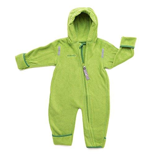 HOPPEDIZ Fleece-Overall für Baby und Kleinkind, gruen, 48-52