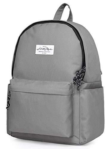 HotStyle CANDER Middle School Backpack for Teen Girls & Boys: Classic, Comfort, Multi-pockets, Durable for Junior High Schooler, Grey