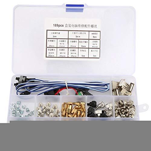 Moederbord Schroef, 189 Stks Moederbord Harde Schroeven PC Assortiment Kit voor Onderhoud en Reparatie Mobiele Netwerk Terminal Apparatuur