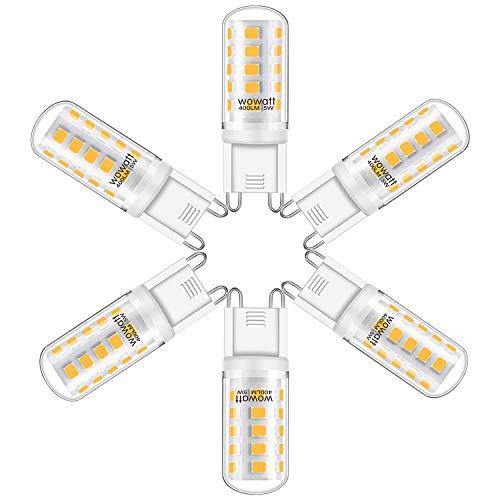 Wowatt 6x Ampoules G9 LED Blanc Froid 6000K Lampe LED G9 Mini 5W Equivalente 40W Halogène Lumière 400LM Lumineux Sans Scintillement 360° Angle de Faisceaux 230V Haute CRI 82Ra Non Dimmable Lot de 6