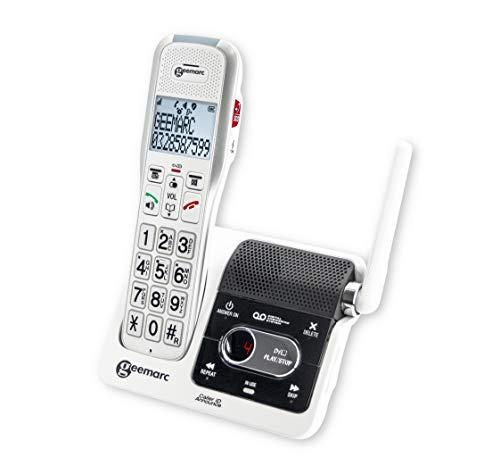Geemarc AmpliDECT 595 ULE schnurloses verstärktes 50 dB Schwerhörigentelefon - mit der Gegensprechanlage kompatibel - Deutsche Version