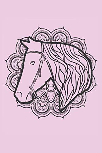 Zeichenbuch A5: Blanko Zeichenbuch   Skizzenbuch  120 Seiten   Pferde Motiv   Softcover   A5   Seiten mit Rahmen   weißes Papier
