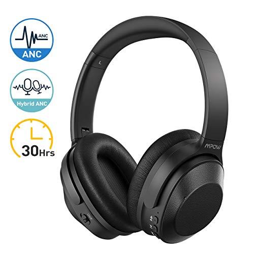 Active Noise Cancelling Kopfhörer, Mpow 30 Std Bluetooth Over Ear ANC Kopfhörer, Bluetooth Kabellos Faltbar mit CVC 6.0 Geräuschunterdrückendes Mikrofon, HiFi Wireless Headset für iOS Android