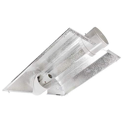 iPower 6 Inch Hydroponics Cool Tube Reflector Grow Light Add-on XL Wing, for 250W 400W, 600W, 1000W HPS MH, High-Reflectivity Aluminum Hood, Bulbs Included