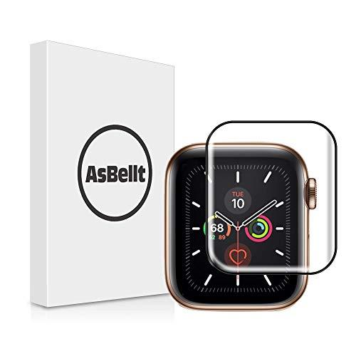 AsBellt Compatibile per Pellicola Vetro iwatch 44mm Serie 4/5, Pellicola 3D Vetro Antigraffi Senza Bolle Pellicola in Vetro per iwatch 44mm