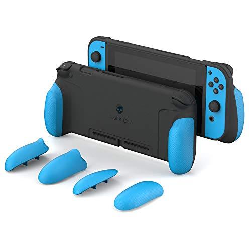 Skull & Co. GripCase : une coque de protection confortable avec poignées remplaçables pour Nintendo Switch MaxCarry Case Only noir