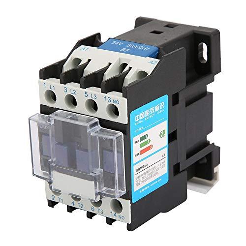 Contactor de montaje en riel CJX2-0910, interruptor de circuito de contactor eléctrico industrial para aplicaciones de energía, distribución y energía(48V AC)