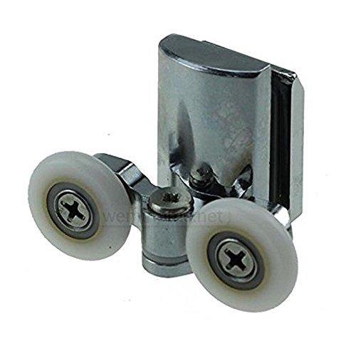 Rodamientos inferiores para mamparas de ducha, 23 mm, 4 unidades