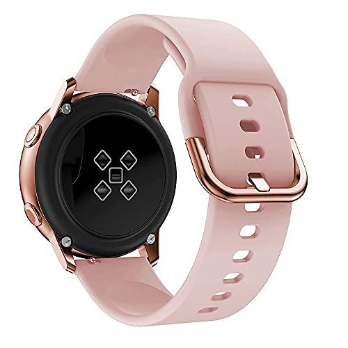 Correa Compatibles para Samsung Watch Active 2 40mm 44mm, Galaxy Watch 3 41mm/Galaxy Watch Active/Galaxy Watch 42mm, 20 mm Correa de Silicona Suave de Repuesto Correa Deportiva para Galaxy Watch