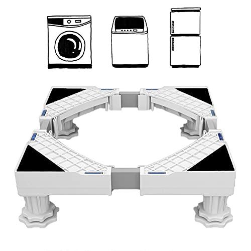 Base Lavadora,Base Móvil Ajustable de 41~64cm con Altura ajustable: 9-12 cm,Base Multifuncional para Secadora y Refrigerador