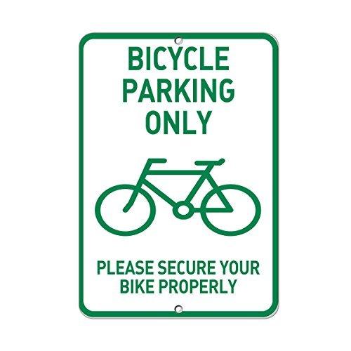 aqf527907 Fietsenstalling Beveilig uw fiets Goed Stijl 5 Metalen Tekenen Aluminium Waarschuwingsborden Veiligheidsbord Metalen Blik Plaat Schermbord 8x12 Inces
