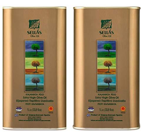 Huile d'Olive Vierge Extra Grecque Kalamata A.O.P. ( Appellation d'Origine Protégée huile certifiée), Variété d'Olive Koroneiki, de première qualité. 2 Lt . Nouvelle récolte !!