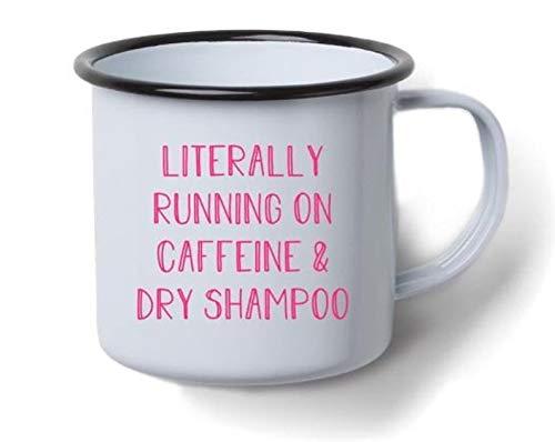 Letterlijk Lopen Op Cafeïne & Droog Shampoo Decal ***Alleen Decal***