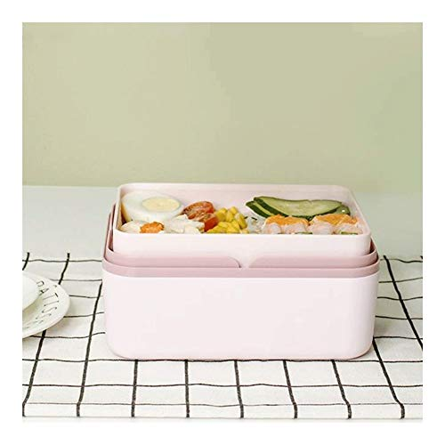 Food thermos Multifunktionale Isolierung Elektro-Lunch Box Leakproof Antiverbrühschutz Tresor Heizung Lunch Box Portable Wiederverwendbare Nahrungsmittelheizung Pink Schwarz ( Color : Pink )