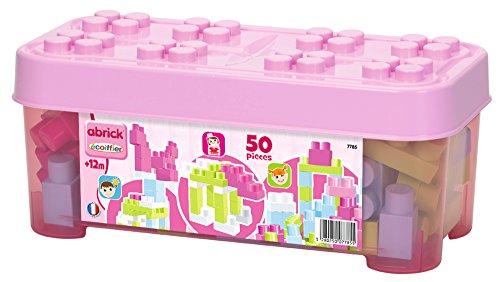 Ecoiffier 7785 - Abrick Box mit 50 Bausteinen, rosa