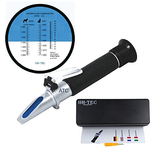 HHTEC Clinical Refractometer Veterinary Handheld Refractometer Veterinary Veterinary RHC-300 Suero Proteína Densidad...