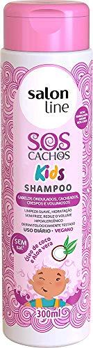 Shampoo S.O.S Cachos Kids, 300ml, Salon Line, Salon Line, Branco