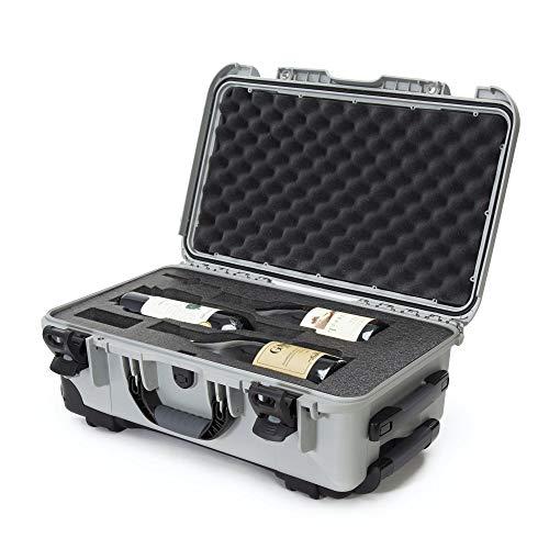 Nanuk 935 保護トラベルケース ワインボトル3本用 ホイールと延長ハンドル付き TSA承認 シルバー (935-3BTLS5)