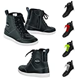 VASTER Motorcycle Rider Boots Motorbike Leather CE Armour Boot Motorcycle Men Waterproof Shoes