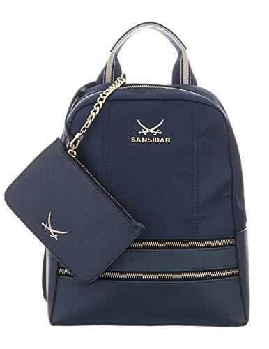SANSIBAR-Damen Rucksack Backpack 24x29x13-011-ocean Blue