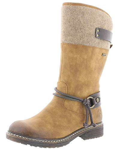 Rieker Damen Stiefel 94774, Frauen Winterstiefel,riekerTex, Winter-Boots langschaftstiefel gefüttert warm Lady,Noce,36 EU / 3.5 UK