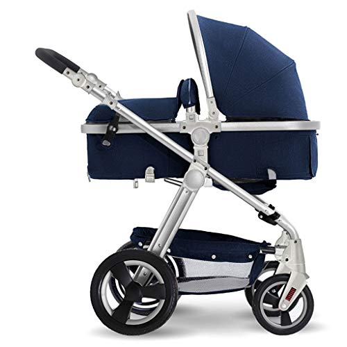 Review Of Strollers High Landscape Stroller for Reclining, Folding, Four Seasons Available, Shock Ab...